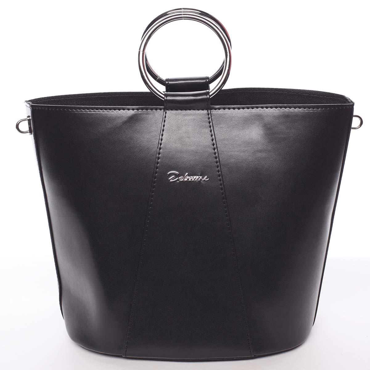 Nadčasová dámska kabelka s organizérom čierna - Delami Karsyn