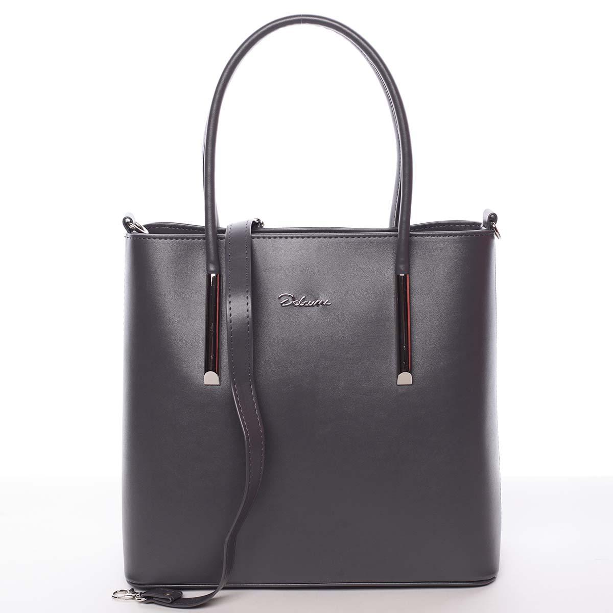 Moderná dámska kabelka do ruky sivá - Delami Bethney