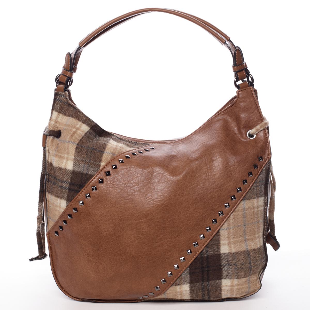 Moderná dámska kabelka hnedá - MARIA C Sarai