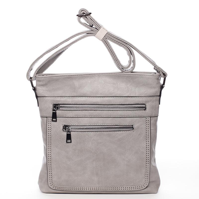Moderná strednej crossbody kabelka šedá - Delami Karlie