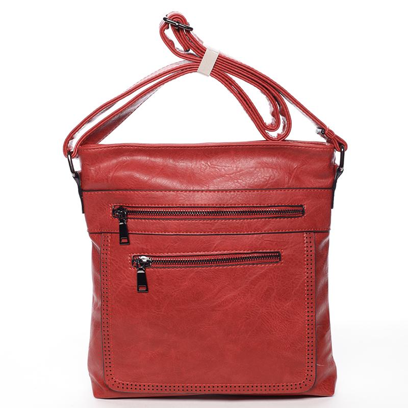Moderná stredná crossbody kabelka červená - Delami Karlie