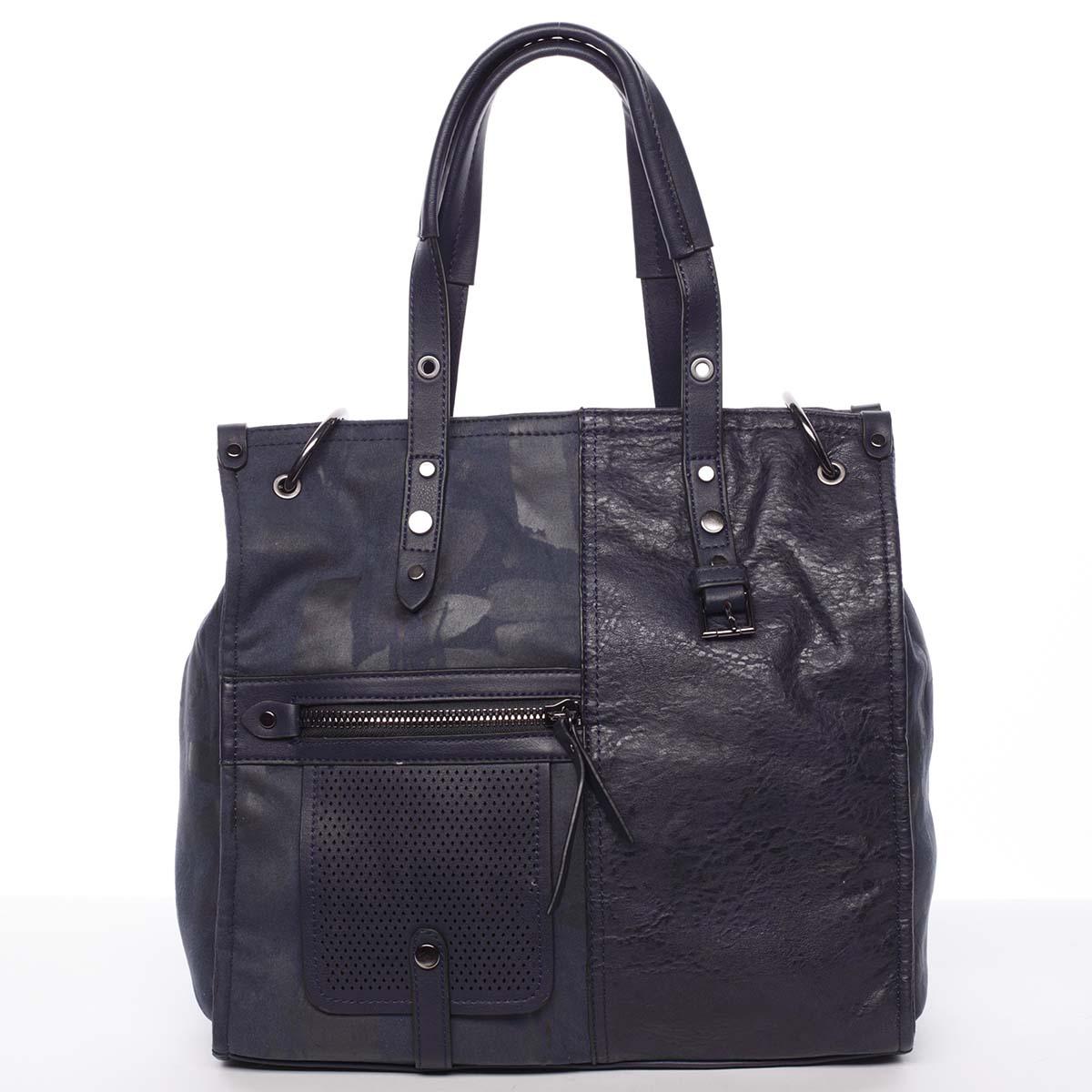 Nadčasová dámska kabelka do ruky modrá - MARIA C Jemma