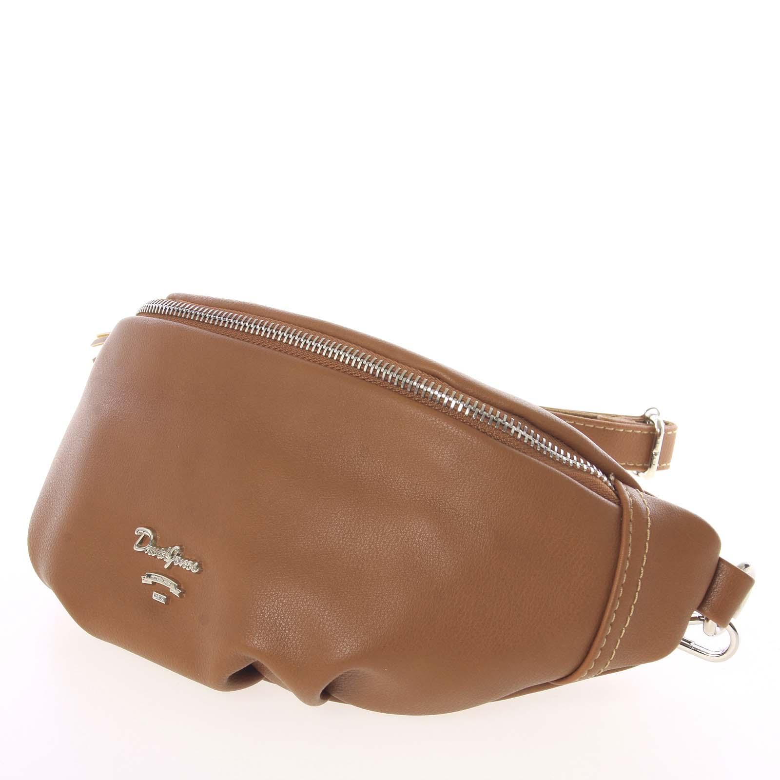 Vkusná tmavšia koňaková ľadvinková kabelka pre ženy - David Jones Kidney