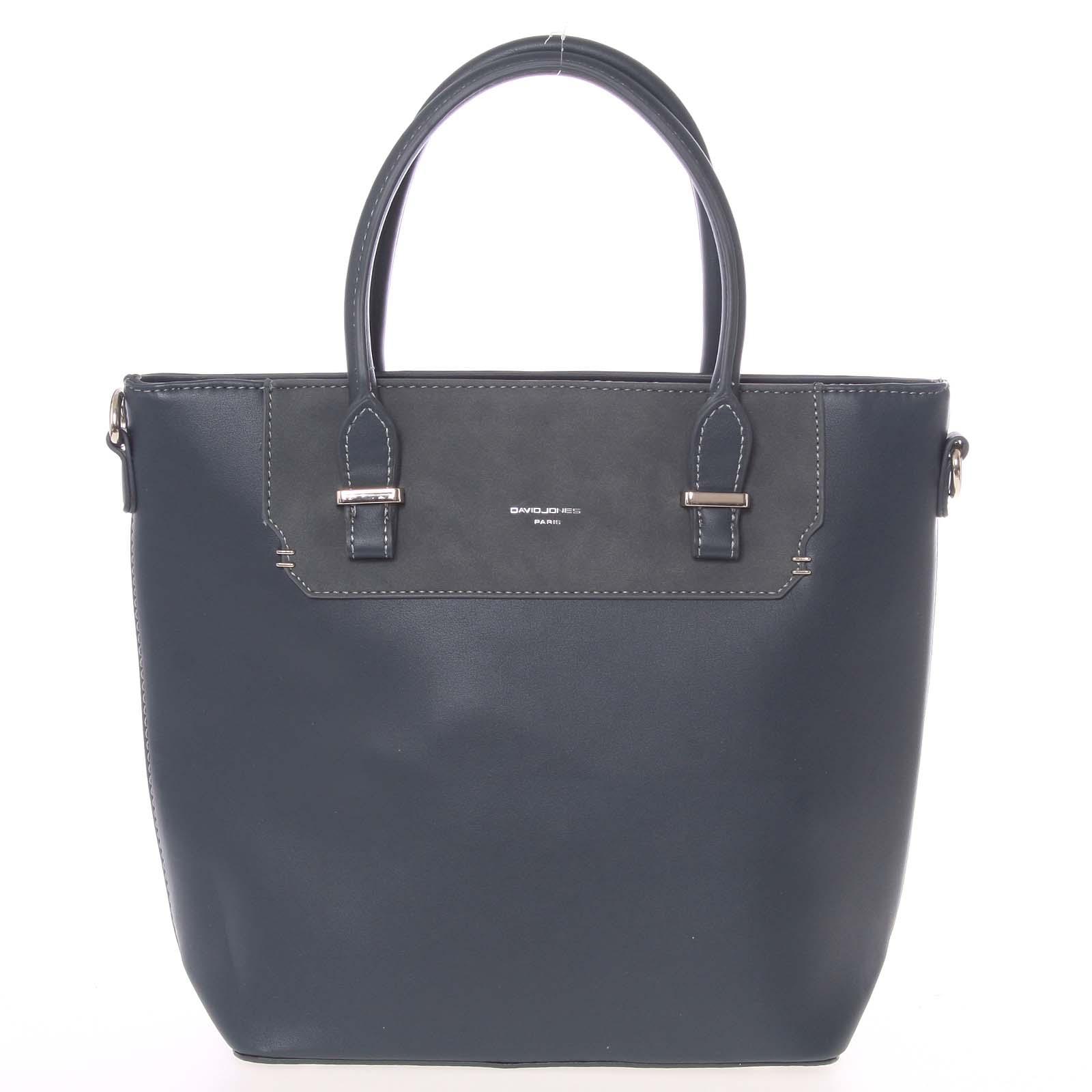Elegantná slivkovo modrá menšia kabelka do ruky - David Jones Talia