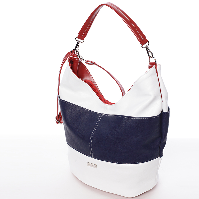 64fd80a497 ... Elegantná bielo-modro-červená dámska kabelka cez rameno - Delami Shakira