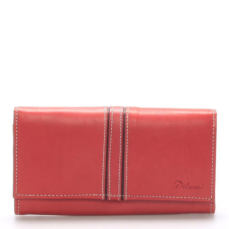 Dámska kožená peňaženka červená - Delami Lestiel