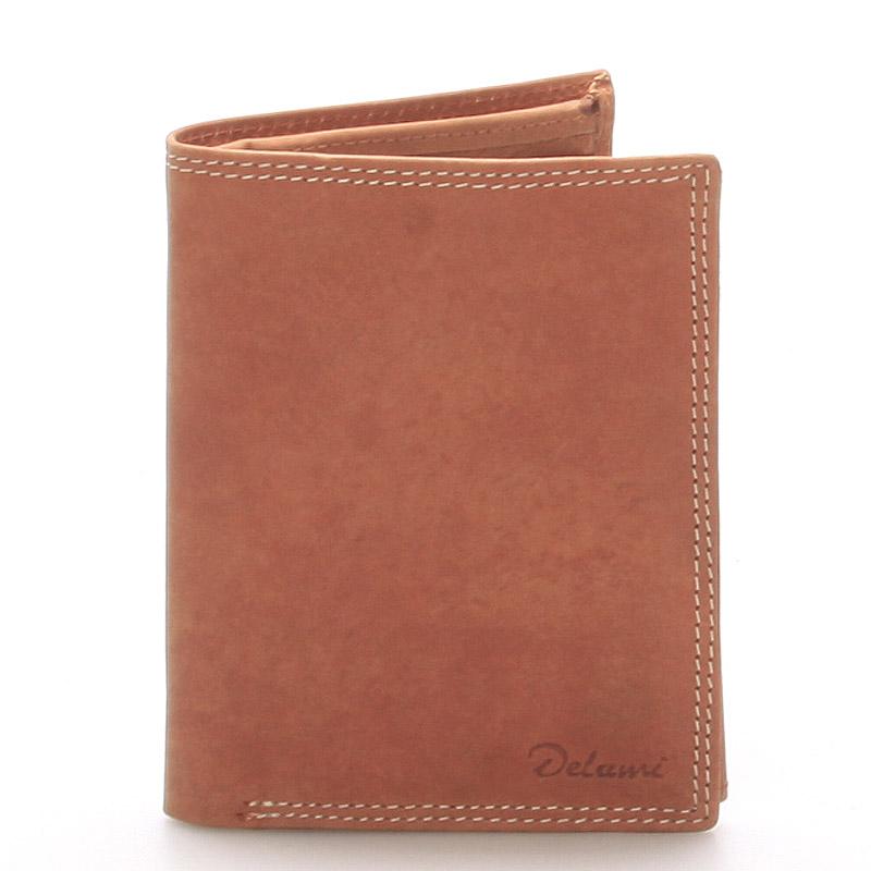 Pánska kožená peňaženka svetlohnedá - Delami Matt