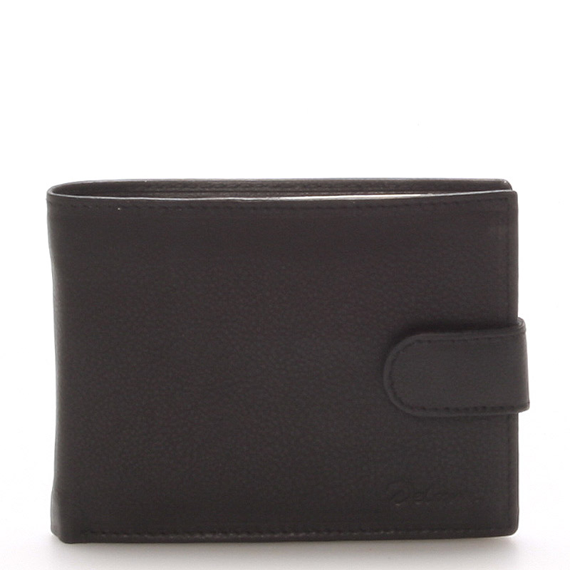 Kožená peňaženka čierna - Delami 8693