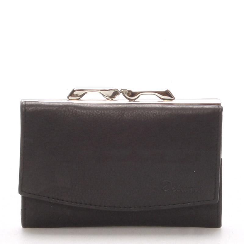 Štýlová čierna dámska peňaženka - Delami 9368