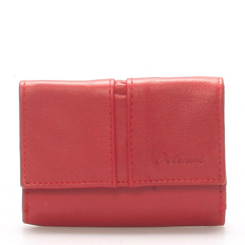 Kožená červená peňaženka - Delami 9386