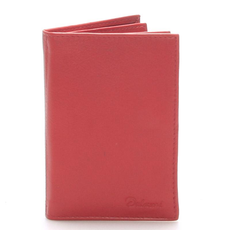 Kožená dokladovka červená - Delami 8220