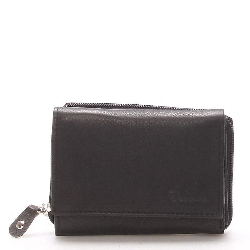 Kožená čierna peňaženka - Delami 8230