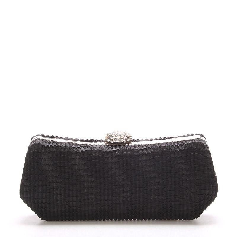Dámska listová kabelka čierna krepovaná - Delami Aveline