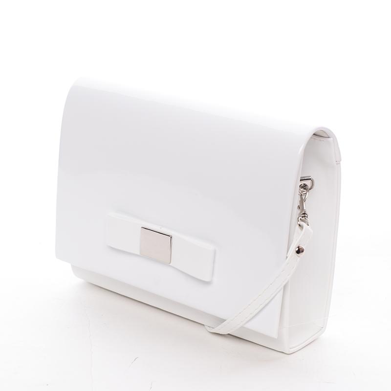 Luxusná dámska listová kabelka biela matná - Delami Chicago Fresno