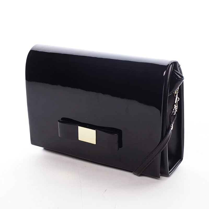 Luxusná dámska listová kabelka čierna matná - Delami Chicago Fresno