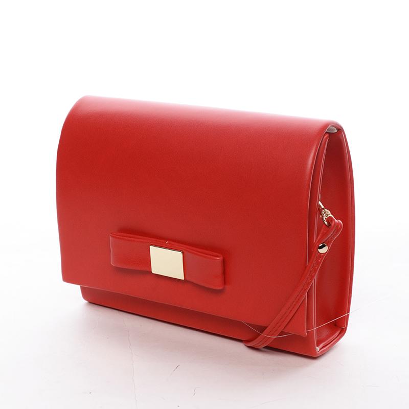 Luxusná dámska listová kabelka červená matná - Delami Chicago Fresno