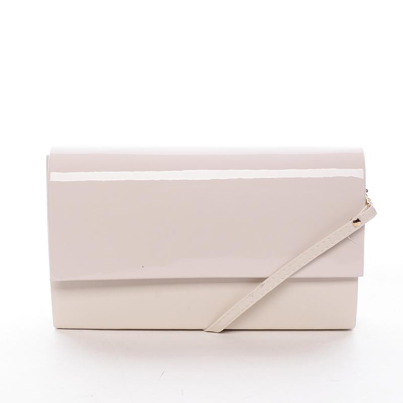 Štýlová dámska listová kabelka béžová matná - Delami Boston