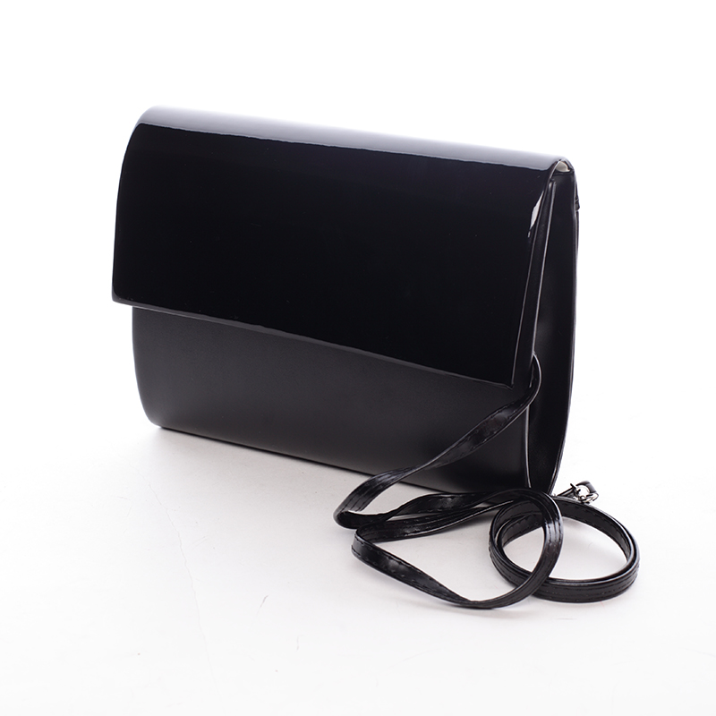 Stredná dámska elegantná listová kabelka čierna matná - Delami Sandiego
