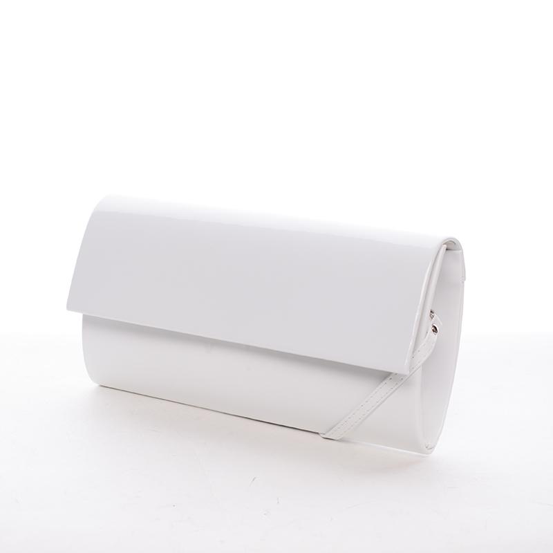 Veľká dámska listová kabelka biela matná - Delami Dallas