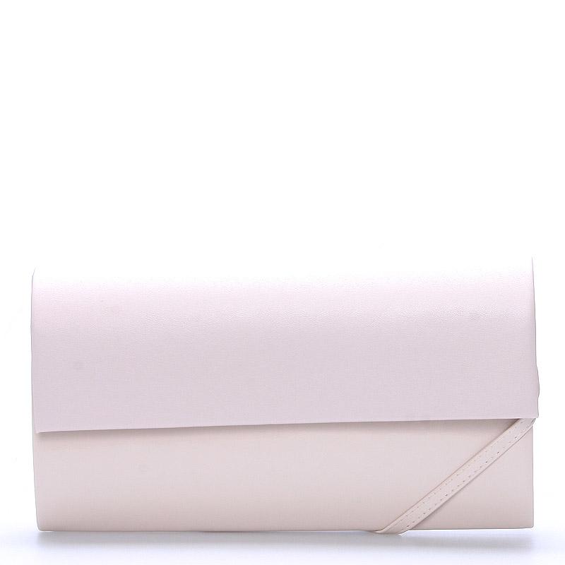 Veľká dámska listová kabelka púdrová lesklá - Delami Dallas