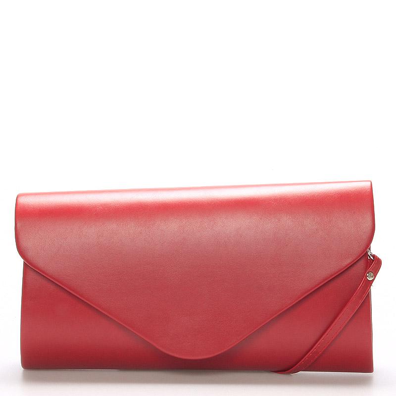 Luxusná veľká dámska listová kabelka červená matná - Delami LasVegas