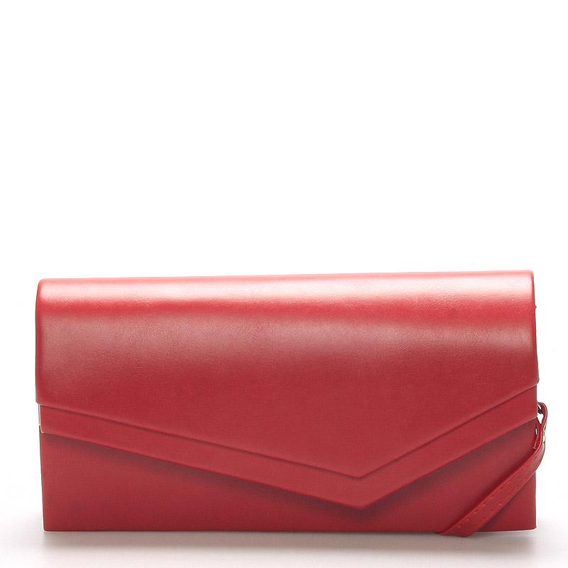 Originálna dámska listová kabelka červená matná - Delami Phoenix