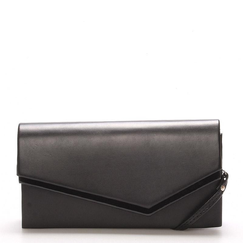 Originálna dámska listová kabelka čierna matná - Delami Phoenix