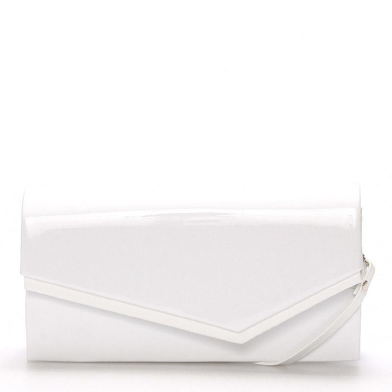 Originálna dámska listová kabelka biela lesklá - Delami Phoenix