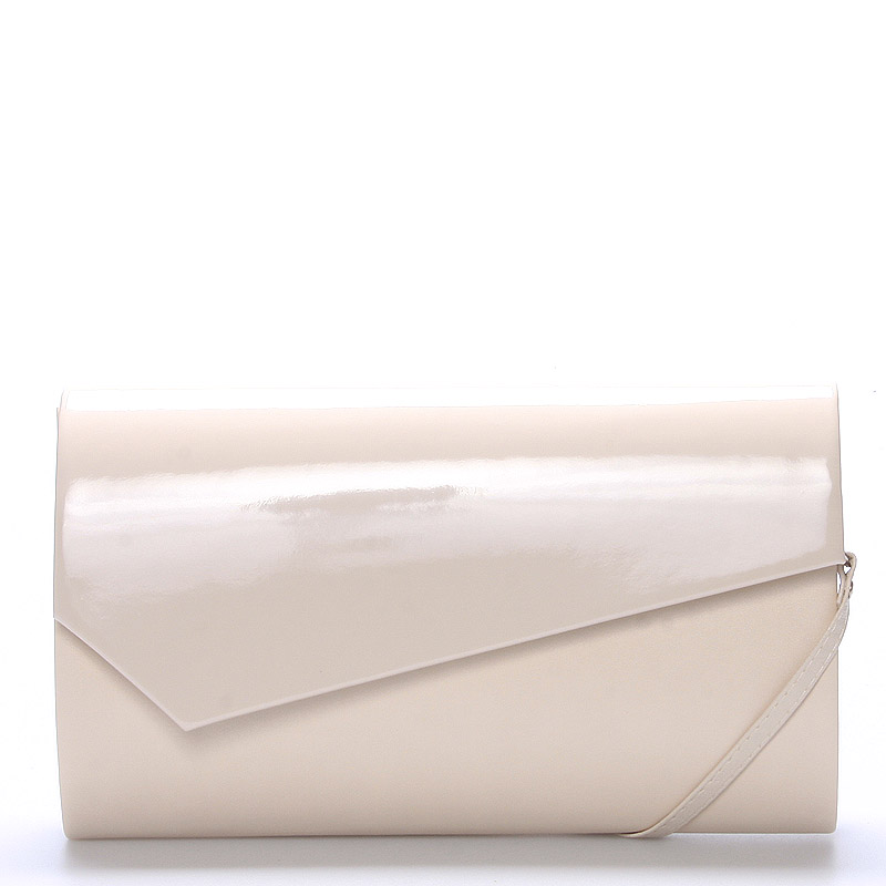 Veľká štýlová dámska listová kabelka béžová matná - Delami Charlien