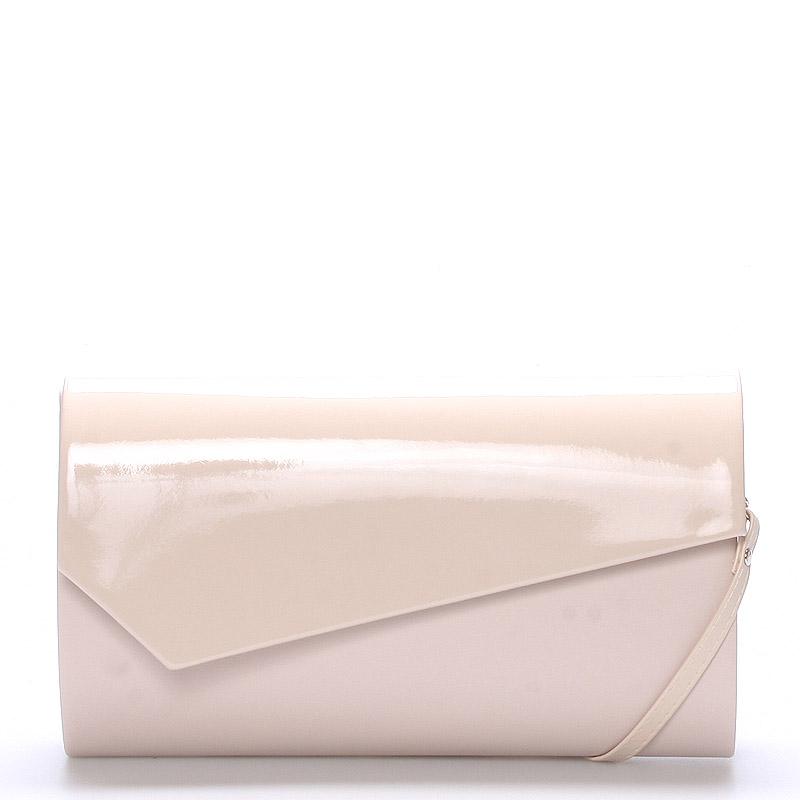 Veľká štýlová dámska listová kabelka púdrová matná - Delami Charlien
