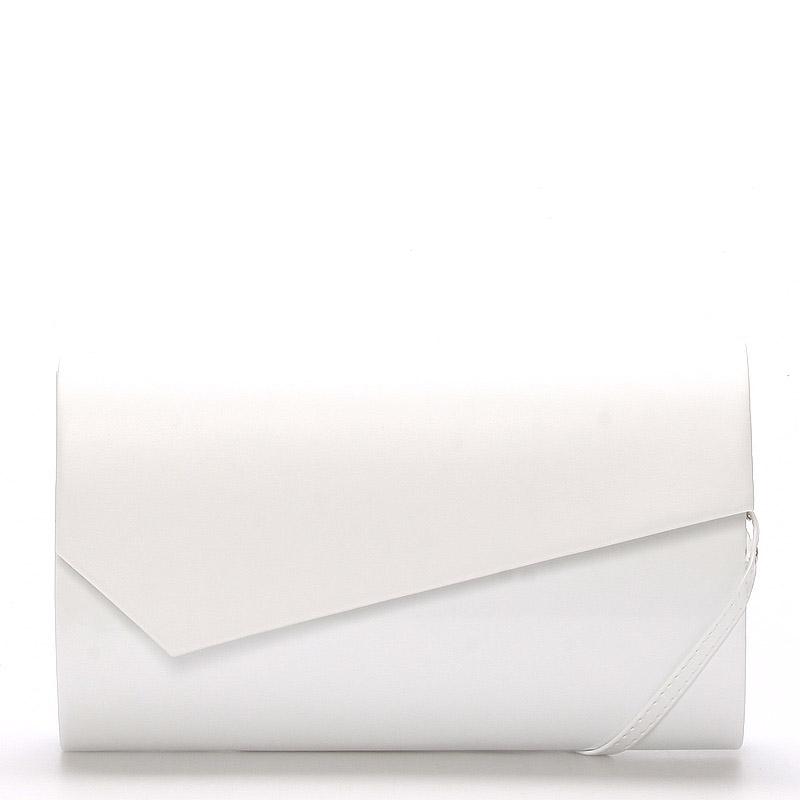 Veľká štýlová dámska listová kabelka biela lesklá - Delami Charlien