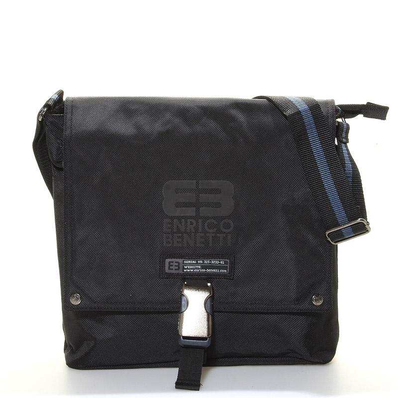 Čierna taška cez rameno Enrico Benetti 4477