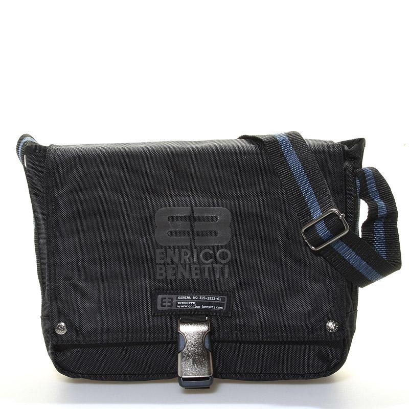 Čierna taška cez rameno Enrico Benetti 4476