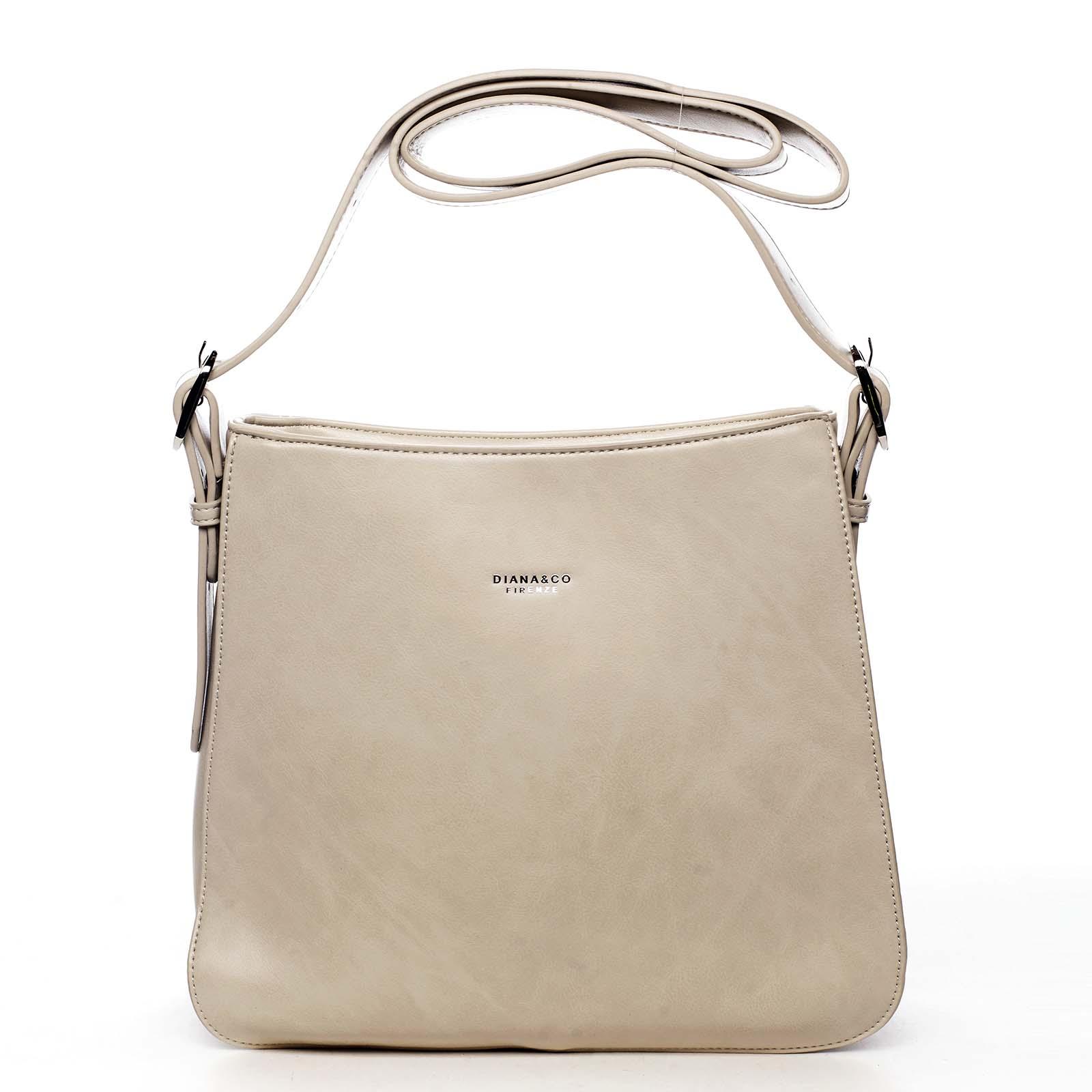 Dámska kabelka cez plece béžová - DIANA & CO Jiansis