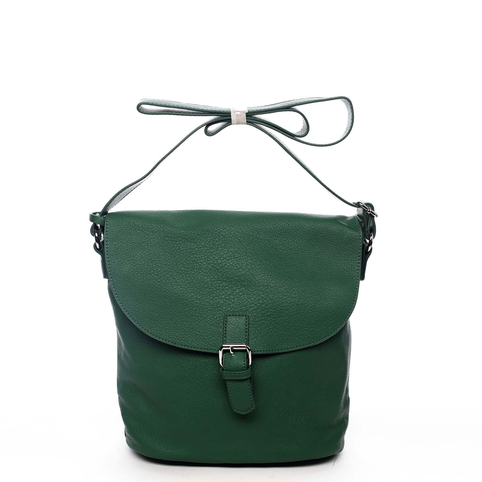 Dámska kabelka cez plece zelená - DIANA & CO Leilla