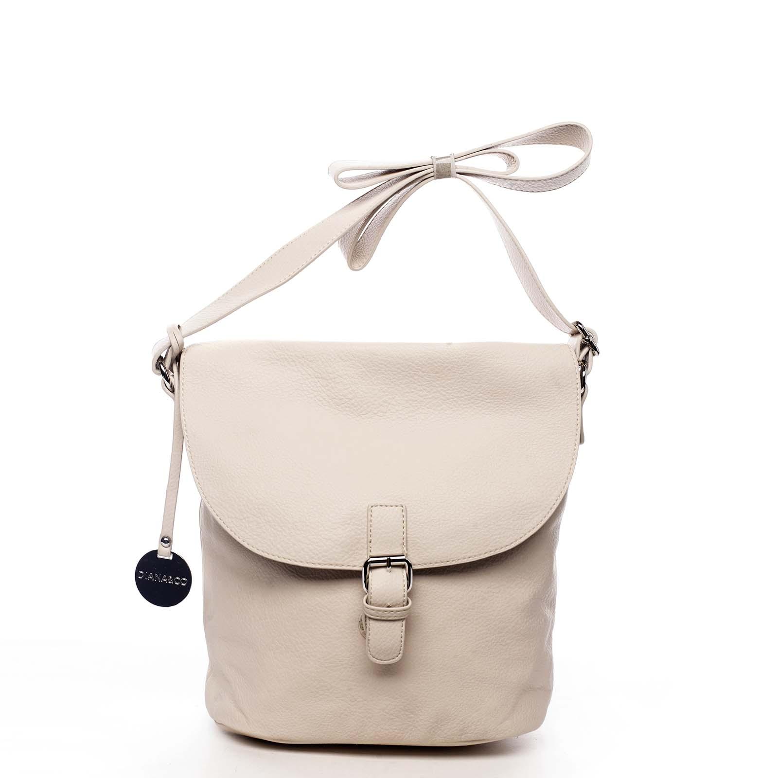 Dámska kabelka cez plece svetlobéžová - DIANA & CO Leilla