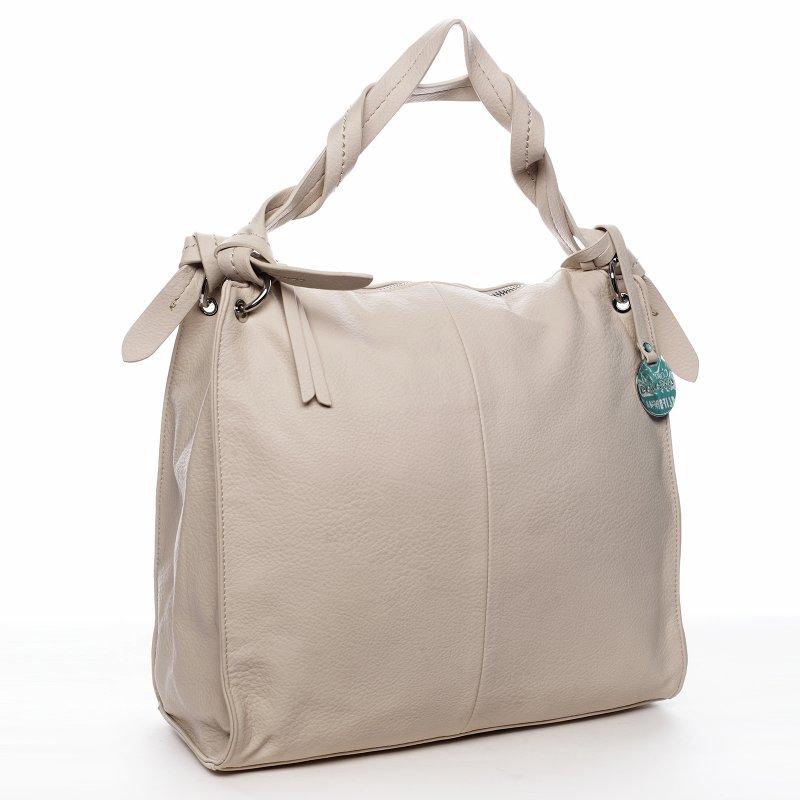 Dámska kabelka cez plece béžová - DIANA & CO Franczeska