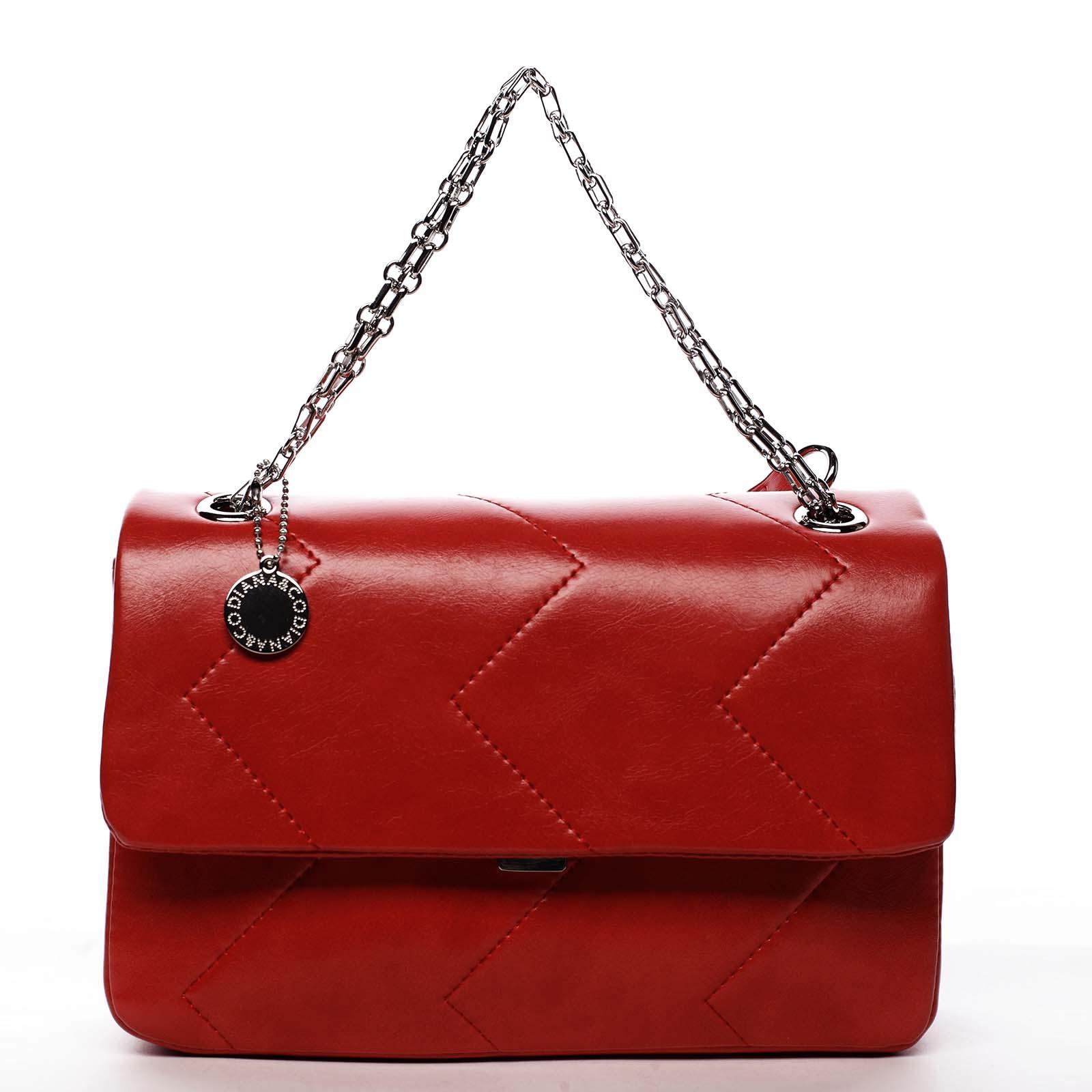 Dámska kabelka cez plece červená - DIANA & CO Threethre