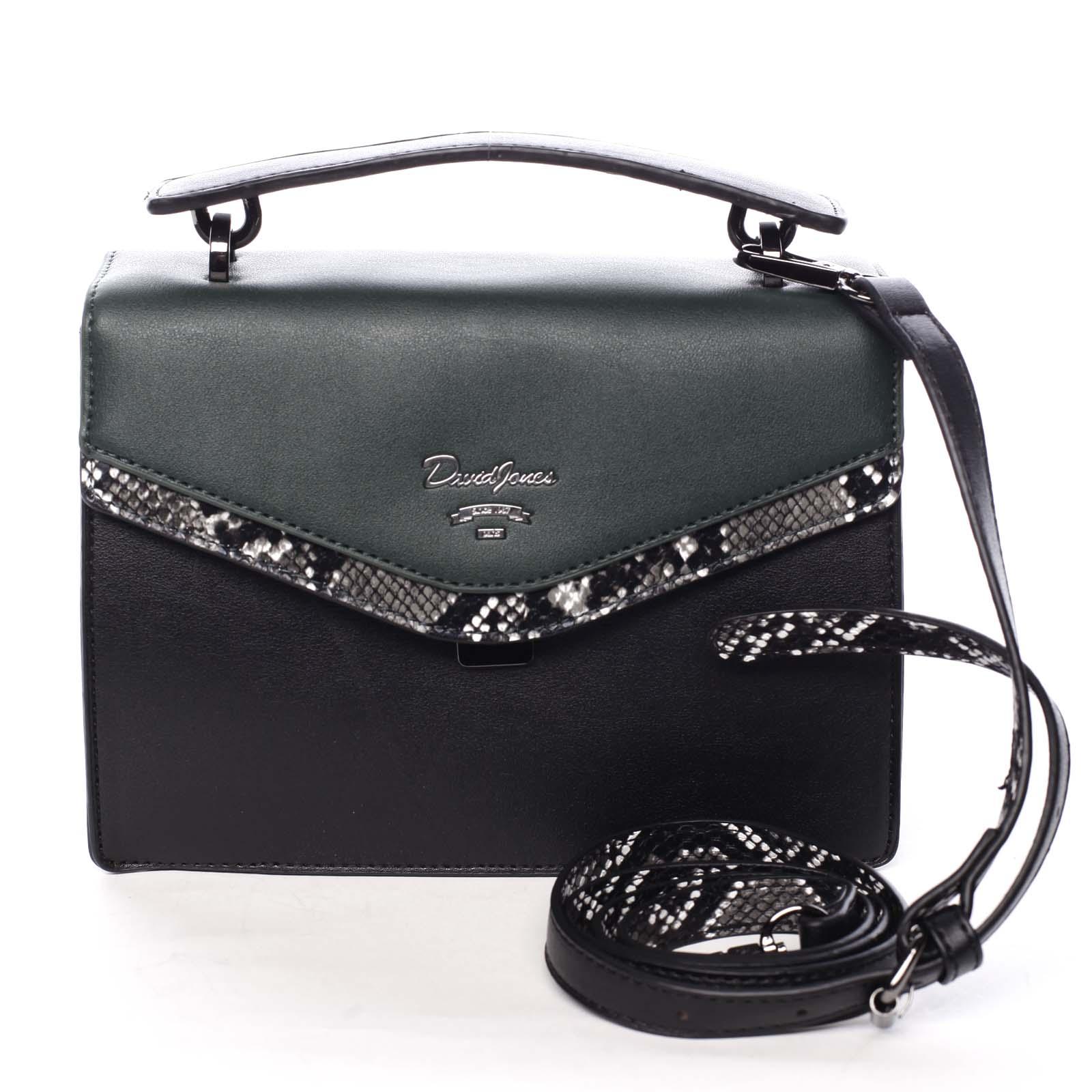 Dámska kabelka do ruky čierno zelená - David Jones Scarlett