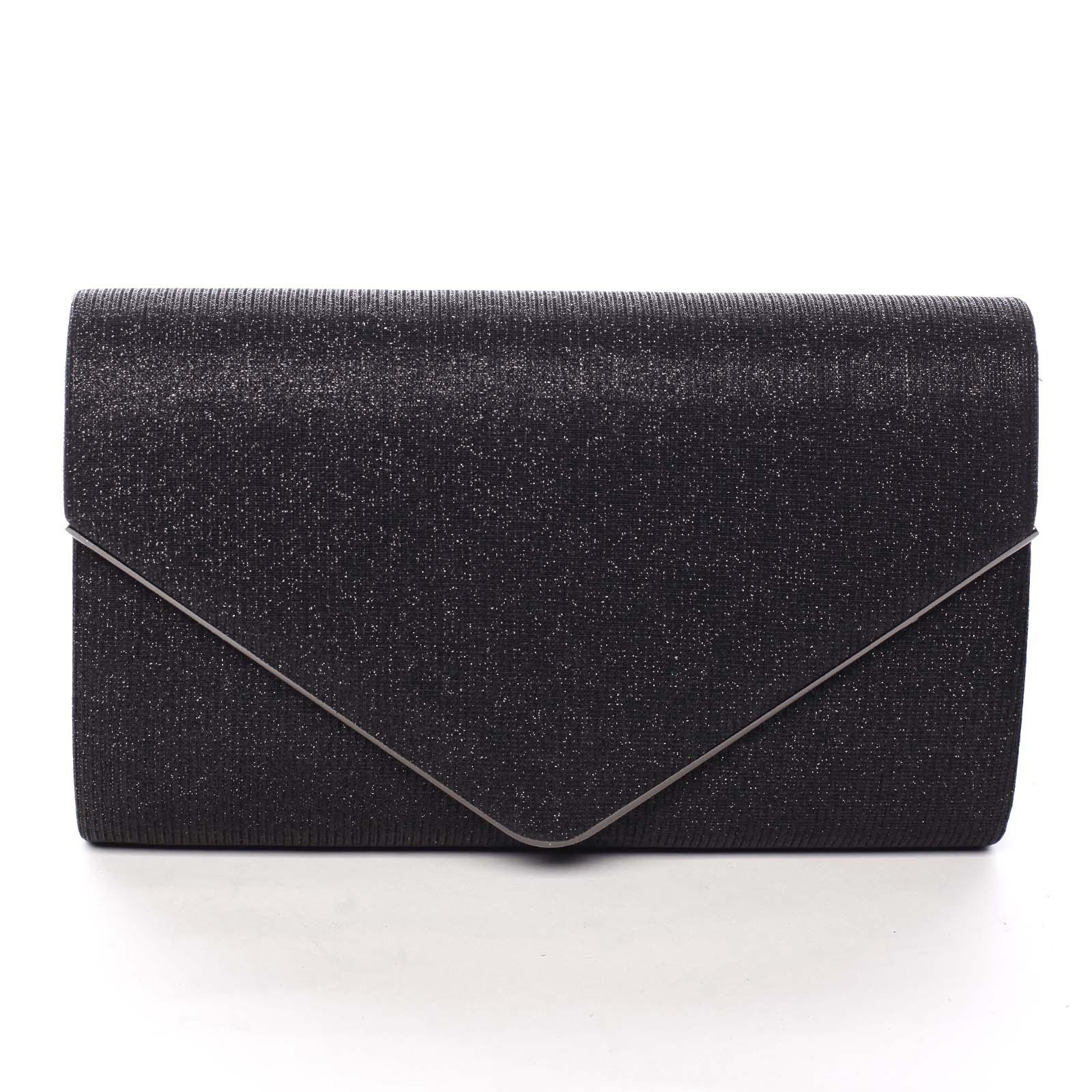 Dámska trblietavá listová kabelka čierna - Michelle Moon L828