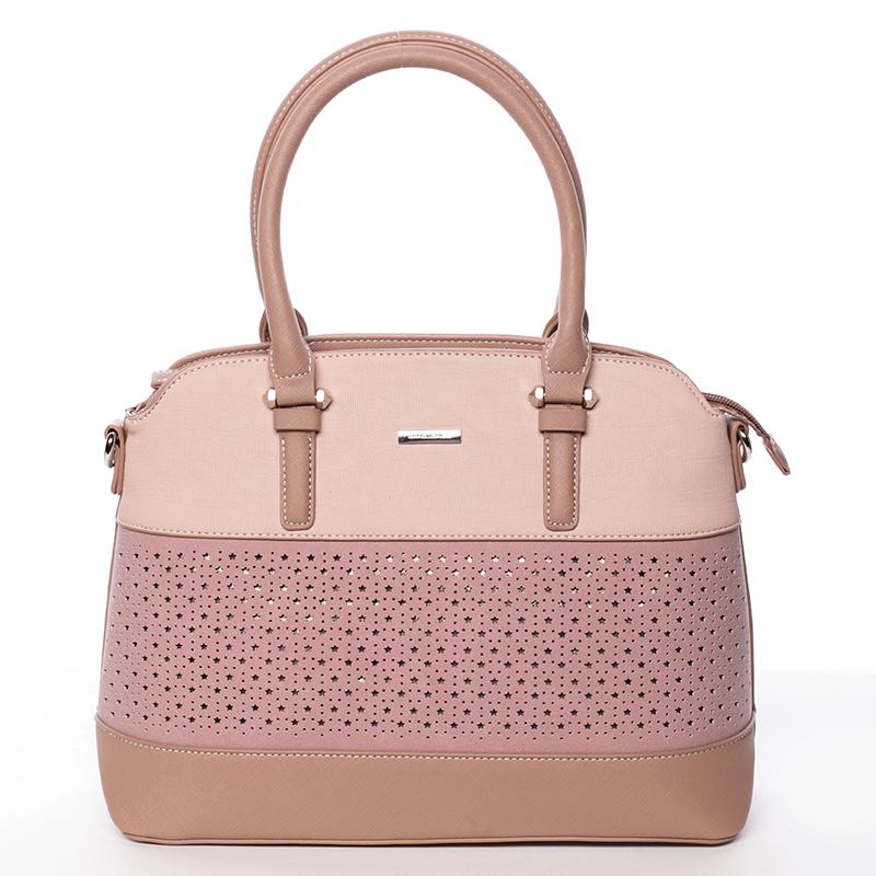 ... Krásna originálna dámska ružová perforovaná kabelka - David Jones  Natasha c563af573fd