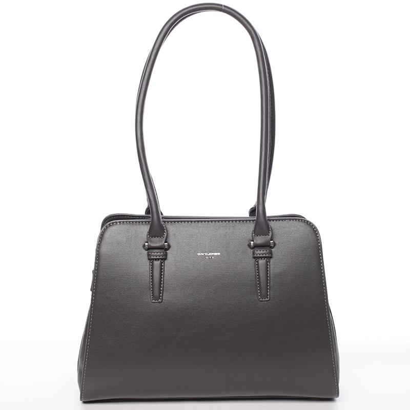 Elegantná dámska tmavo šedá kabelka cez plece - David Jones Jade