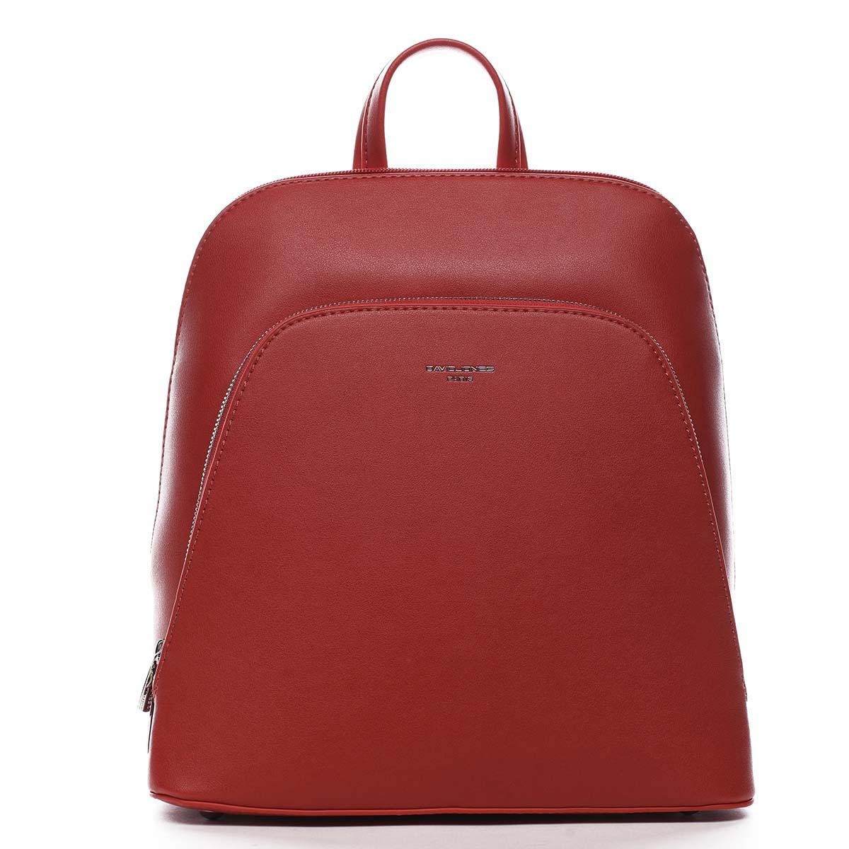 Dámsky mestský batoh červený - David Jones Yordan