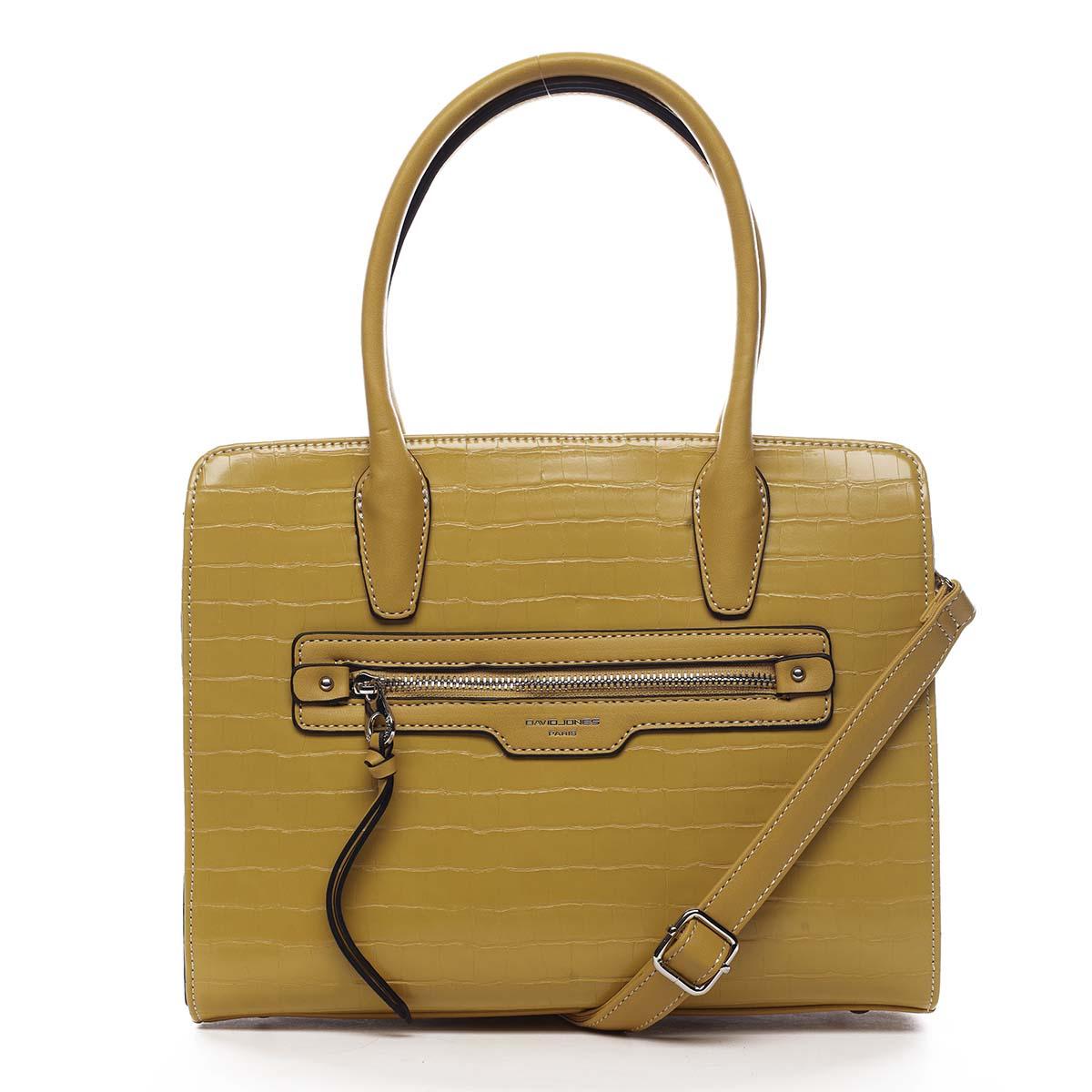 Dámska kabelka žltá - David Jones Camille
