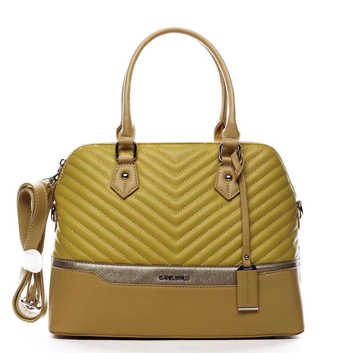 Dámska kabelka do ruky žltá - David Jones Roshel