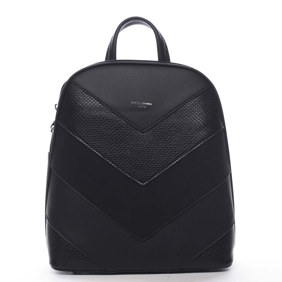 Dámsky mestský batoh čierny - David Jones JeanBell