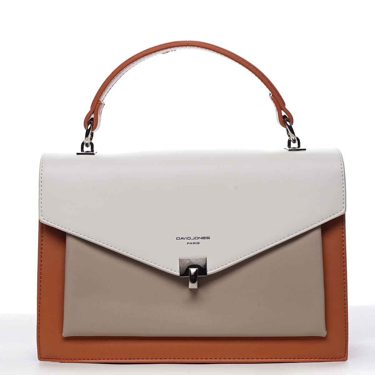 Dámska kabelka do ruky oranžová - David Jones Holeruge