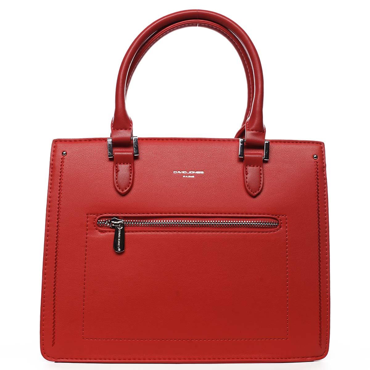 Dámska kabelka do ruky červená - David Jones Samentha