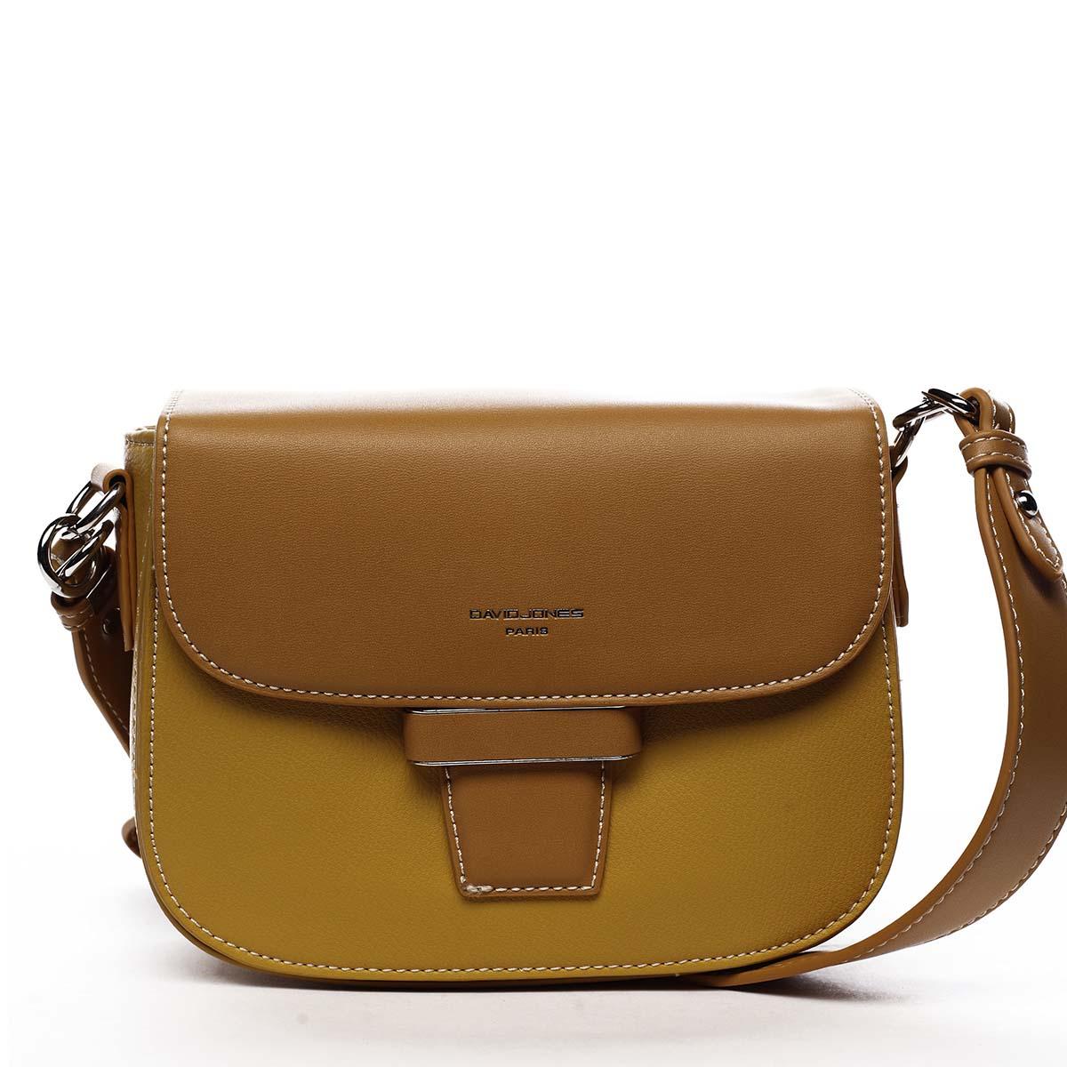 Dámska kabelka žltá - David Jones Nancy
