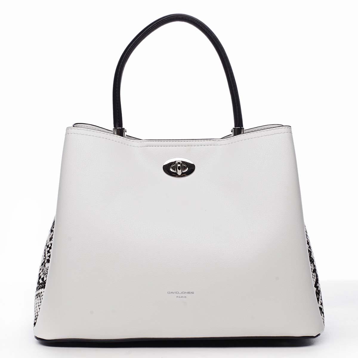 Dámska kabelka biela - David Jones Prestique